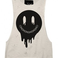 Melting' Distress Sleeveless Tank by Youreyeslie.com Online store> Shop the collection