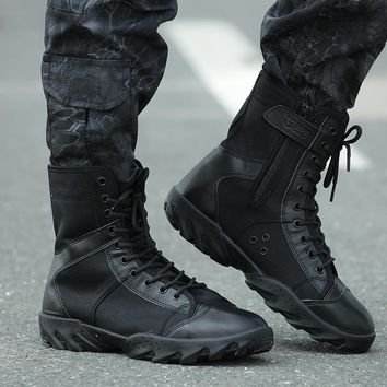 Military Outdoor Hiking Shoes Mountain Tactical Combat Boots ,Shoe Men For Walking Climbing ,Boots Men Non-slip Breathable Shoe
