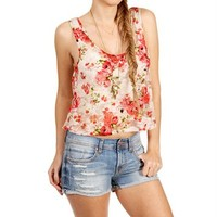 Rose Lace Cropped Top