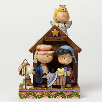 Peanuts Christmas Pageant Jim Shore Resin Figurine New with Box