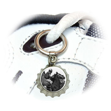 Horse Racing - Race Track Betting Running Vintage Shoe Bottlecap Charm