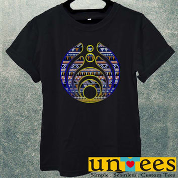 Low Price Men's Adult T-Shirt - Bassnectar Logo on Aztec design
