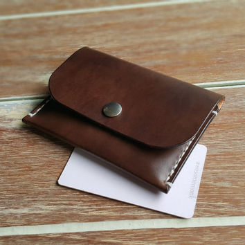 Bestfriend Gift, Coin wallet, Personalized wallet, Veg Tanned Leather, Engraving wallet, VISA card wallet, Money wallet
