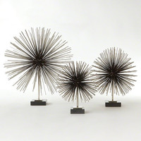 Global Views Boom Tabletop Sculpture-Nickel-Med - Global Views 8-81929