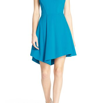 Adelyn Rae Cutout Ponte Fit & Flare Dress | Nordstrom