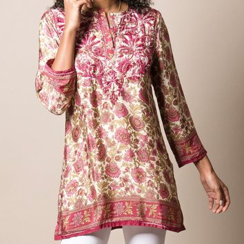 Shalimar Silk Tunic - Rose