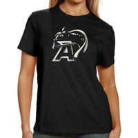 Army Black Knights Women's Blackout T-Shirt - Black