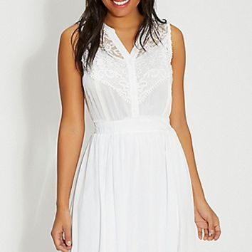 dress with lace and crochet | maurices