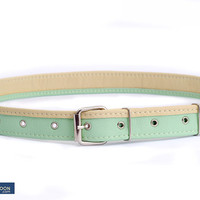"Mint belt ""Lily Fly"", vegan leather"