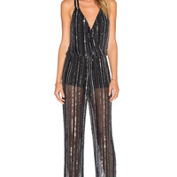 Parker Donny Sequin Jumpsuit in Black