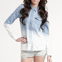Kendall & Kylie Ombre Bleached Western Shirt at PacSun.com