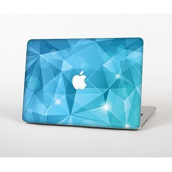 The Vector Shiny Blue Crystal Pattern Skin Set for the Apple MacBook Pro 13""