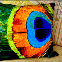 Peacock - Pillow Cover and Pillow Case.
