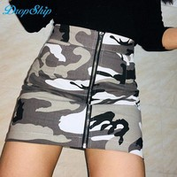 DCCKKFQ Dropship Zipper High Waist Mini Skirt Women Camouflage Sexy Short Harajuku Printed Fashion Short Denim Skirts Femme Camo Skirt