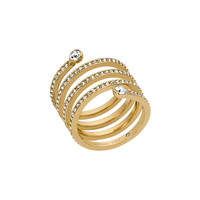 Clear Pave Spiral Ring - Michael Kors
