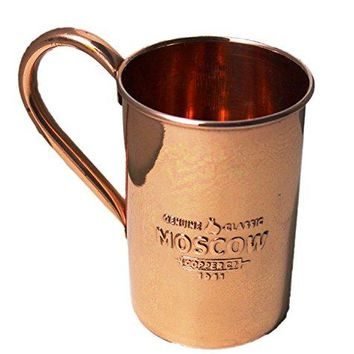PARIJAT HANDICRAFT Copper Moscow Mule Mugs Cups Capacity 16 Ounce with Logo Classic Copper