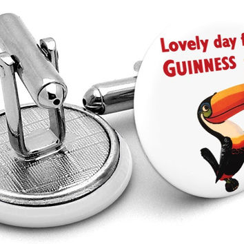 Guinness Lovely Day Toucan Cufflinks
