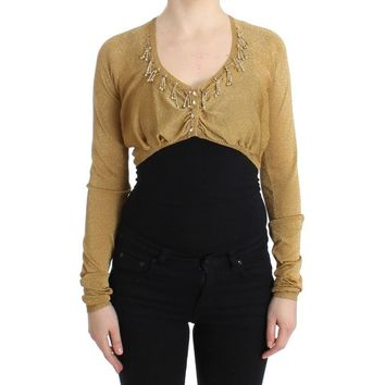 Cavalli Gold embellished gold shrug
