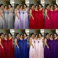 2016 Stock Long Formal Evening Dress Bridesmaid Prom Wedding Party bridal Gown