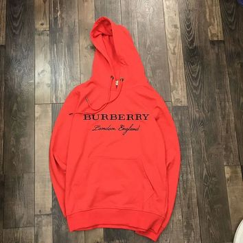 Burberry Woman Men Fashion Embroidery Top Sweater Hoodie-2