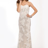 Long Strapless Mermaid Gown 21771 - Prom Dresses