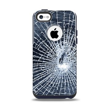 The Shattered Glass Apple iPhone 5c Otterbox Commuter Case Skin Set