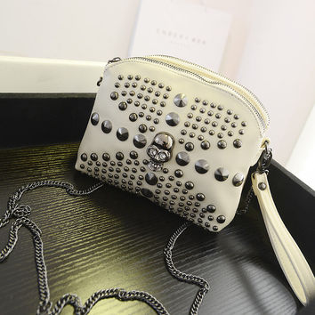 Strong Character Stylish Fashion Rivet Decoration Mini Chain Bags Shoulder Bags [6582214727]