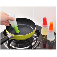 Silicone Rubber Oil Dispenser Bottle Brush Basting BBQ Barbecue Cooking Baking Pancake bar Kitchen Tool grill brush