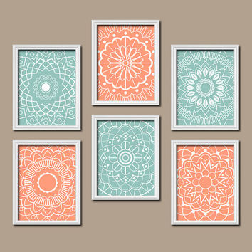 Wall Art Kitchen Bedroom Bathroom Mandala Flower Canvas Artwork