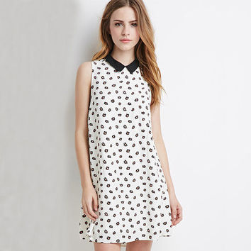 2016 Spring Summer Elegant White Floral Collar Women One-piece Dress