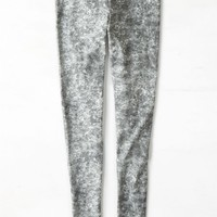 AEO Women's Printed Legging (Black)
