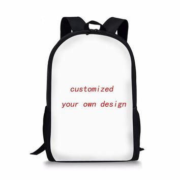 School Backpack FORUDESIGNS School Bags for Girls French Bulldog Printing  Kids Cute Puppy Bookbag Students Shoulder Bag Satchel AT_48_3