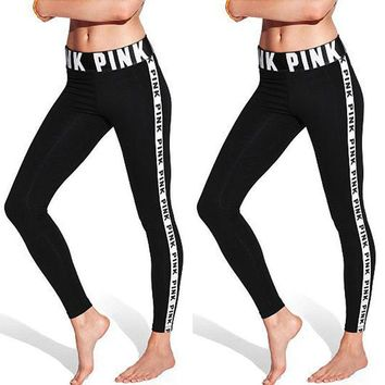 Lady Sports Gym Yoga Running Fitness Leggings Pants Jumpsuit Athletic Clothes(Non-set)