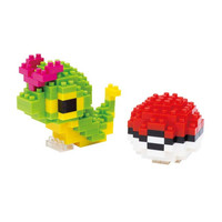 NANO BLOCK POKEMON : Caterpie & Monster Ball