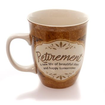 Tabletop Retirement Cup Mug / Coffee Cup