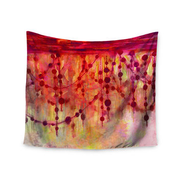 "Ebi Emporium ""Prismacolor Pearls"" Pink Orange Wall Tapestry"