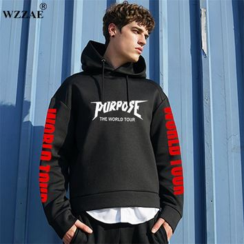 2018 Purpose Tour Hoodies Men Justin Bieber Purpose Tour Hop Hop Hoodie Kanye Streetwear Brand Sweatshirts Men Swag Tyga Hoodie