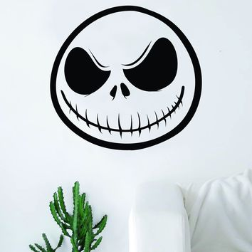 Jack Skellington Nightmare Before Christmas Decal Sticker Wall Vinyl Decor Art Movie Kid Teen Skull Tim Burton