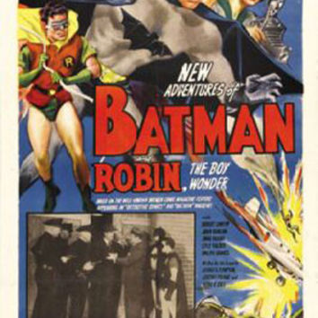 Batman And Robin Vintage Movie Poster