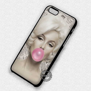 Marilyn Monroe Pink Bubble Gum - iPhone 7 6 5 SE Cases & Covers