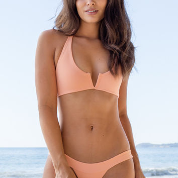 Mary Grace Swim - Switch Top | Hot Apricot Rib