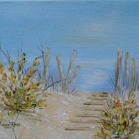 Oil painting original art Long Beach Island Home & by jujuru