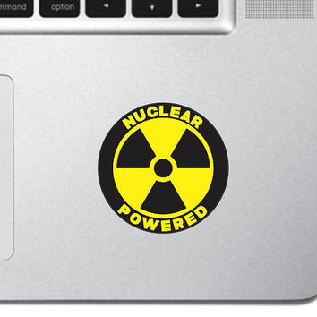 "Nuclear Powered Keyboard, Keypad Vinyl Decal Sticker - Skin Track Pad MacBook Pro Air Decal 13"" 15"" 17"" Apple iPad Decal"