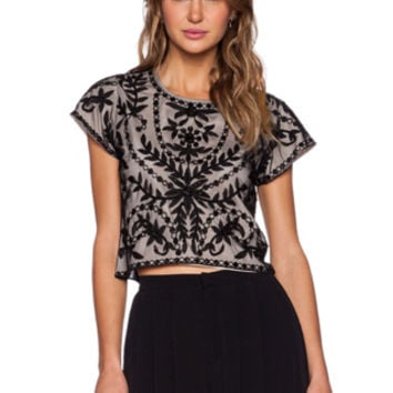 Katrina Crop Top in Black
