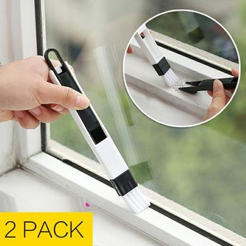 Multipurpose Window Cleaner Brush+Dustpan Multifunction Small Nook Cranny Dust Shovel 2in1 Household Home Kitchen Keyboards Comp