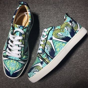 Christian Louboutin CL Style #2025 Sneakers Fashion Shoes Best Deal Online