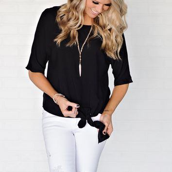 * Sumter Blouse With Tie : Black