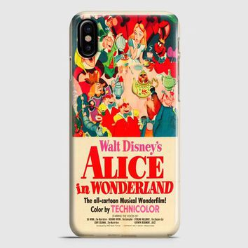 Vintage Disney Poster iPhone X Case