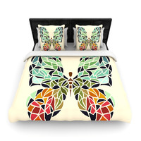 "Art Love Passion ""Butterfly"" Brown Multicolor Woven Duvet Cover"