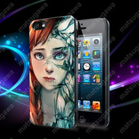 Anna and Elsa Face Disney Frozen Case For iPhone 5, 5S, 5C, 4, 4S and Samsung Galaxy S3, S4